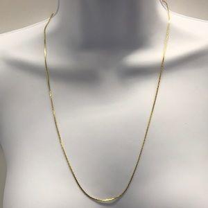 "Gold-tone 24"" Serpentine Chain Heavy Gold Plate"